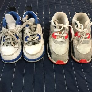 Nike Airmax and Jordan shoes (size 10) boys